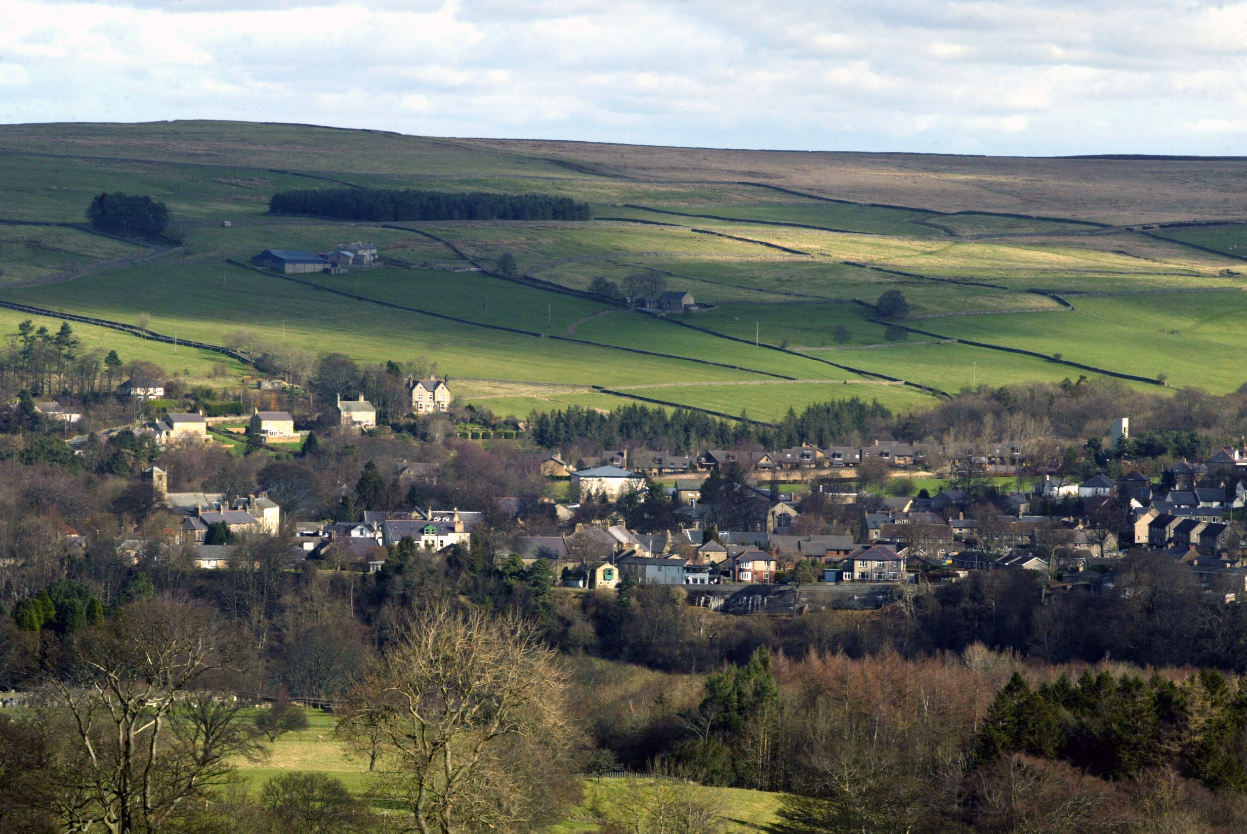 Looking down on Allendale
